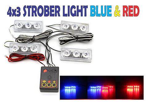 Strober light 6 Leds with Control
