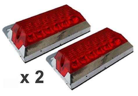 2 Pcs Rectangular Stop 8.5X7.5 Red
