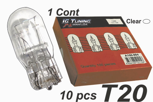 Single Contac T20 Clear Glass Bulb 10 Pcs