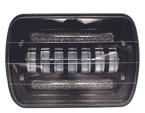 HeadLamp Black Backgroung LED 5x7
