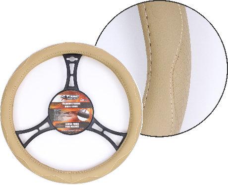 Steering Wheel Cover Curves Beige