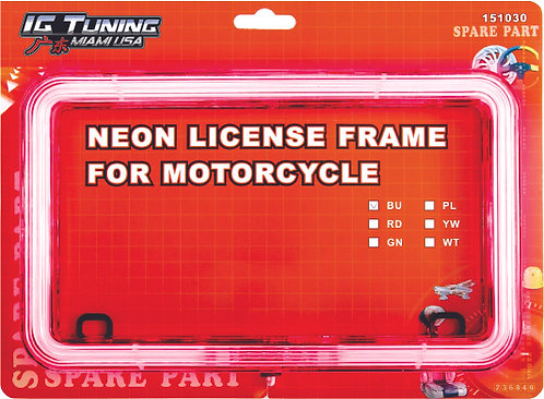 23 Led Motorcycle Licence Red