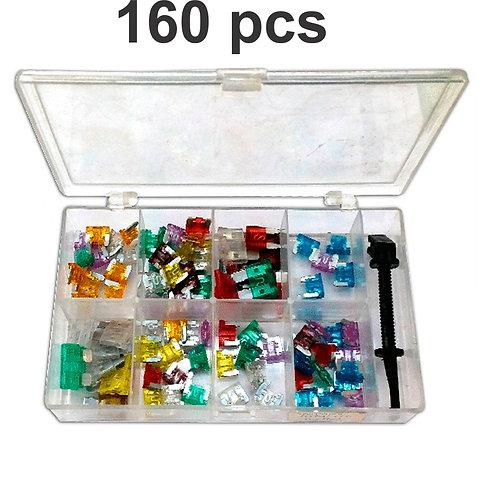 Kit  Of 160 Mini Fuses Various Amps