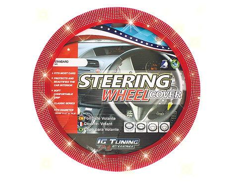 Steering Wheel Cover Bling Bling Red
