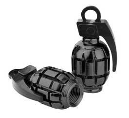 Grenade Valve Caps Black