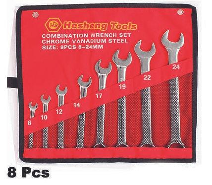 Combination wrench set  8 pcs