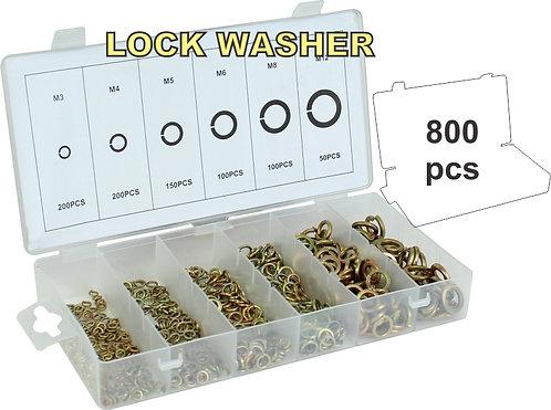 800pcs Spring washers assortment kit
