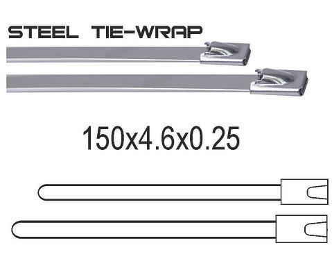 150x4.6x0.25 Metal Tie Wrap