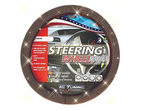 Steering Wheel Cover Bling Bling Brown