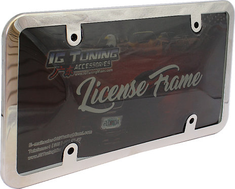 License Plate Frame and Cover Smoke