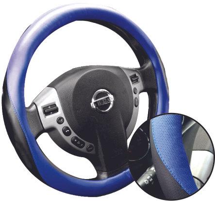 Waves Steering Wheel Covers Blk/Blue