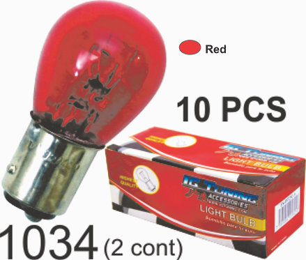 Double Cont Red Glass Bulb (10Pcs)