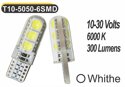 T10 LED 6 SMD 2 pcs White