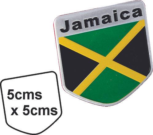 Sticker metal Jamaica Flag