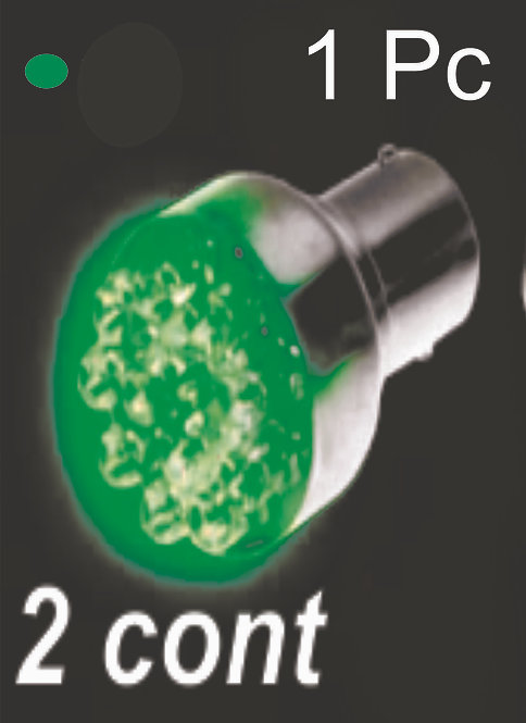 Double.Cont Green 12Led Bulb  (2Pcs)