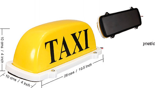 Small Yellow Magnetic Taxi Sign