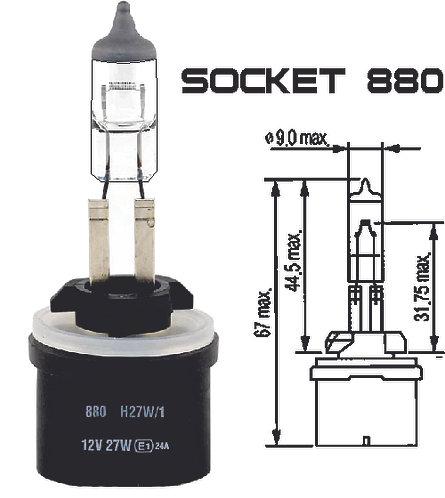 Bulb 880 Clear 27W 10 Pcs