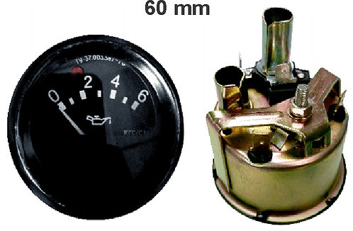 Oil Pressure Elect Gauge 60Mm