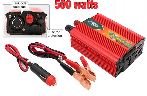 Inverter voltage 12V to 110V 500 Watts