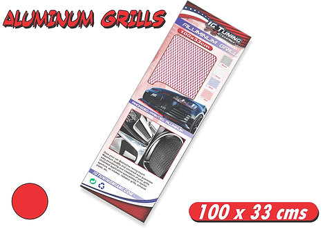 Aluminium Grill Red 100 x 33cms