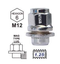 Duplex MAG Attached Washer L37 12x1.25