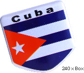 Sticker metal Cuba Flag