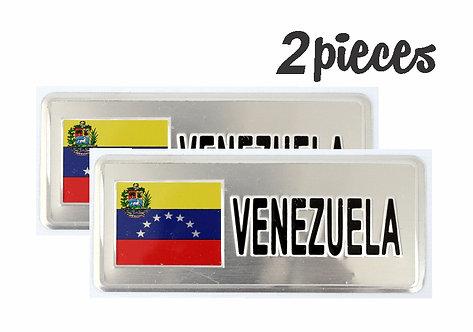 Flag Emblem Venezuela 2 Pcs