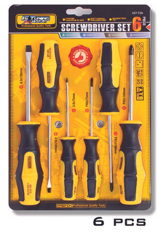 Screwdriver 6 Pcs En Blister