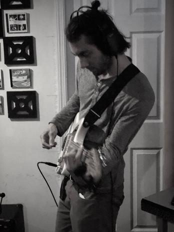Tracking Guitar at Pharaoh Studios, 2018