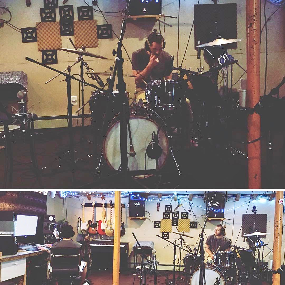 Tracking Drums at Pharaoh Studios, 2018