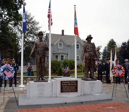 Peabody Fire and Police Memorial Statue