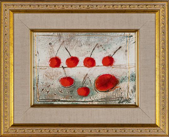 ''Six cherries and peach'' 2021