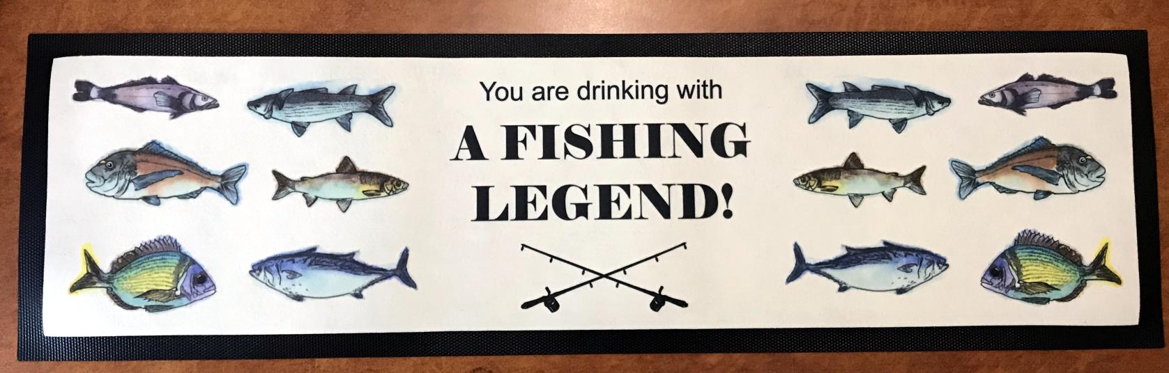 Fishing Legend Bar Mat