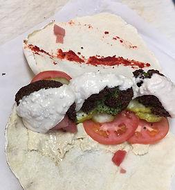 Homemade Falafel on Pita Bread