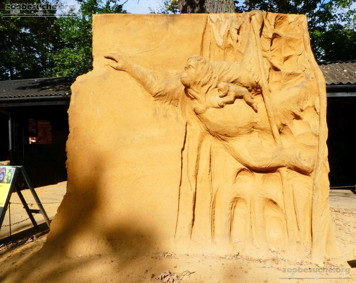 Sandskulptur - Orang Utan