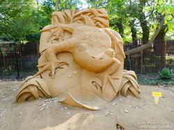 Sandskulptur - Frosch
