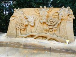 Sandskulptur - Giraffe