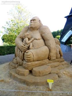 Sandskulptur - Gorilla  (2)