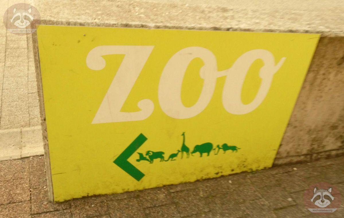 Wegweiser zum Zoo