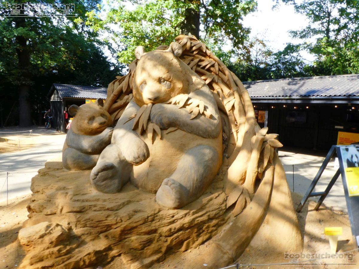 Sandskulptur - Panda