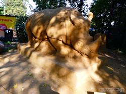 Sandskulptur - Nashorn (1)
