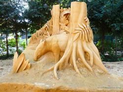 Sandskulptur - Tapir