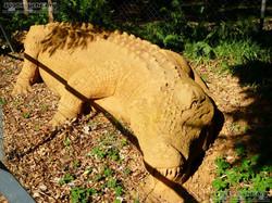 Sandskulptur - Krokodil