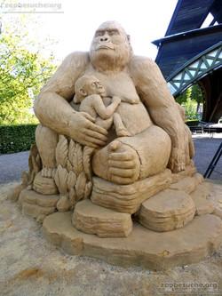 Sandskulptur - Gorilla  (3)