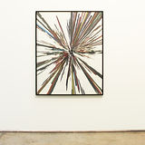 Abdelkader Benchamma, Untitled, 2017, Ink on Paper, 150 x 120 cm. Installation view: Gallery Isabelle Van Den Eynde