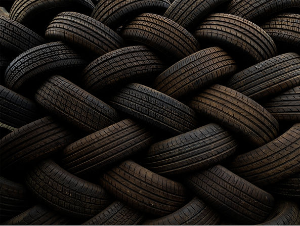 "Jalal Bin Thaneya, ""Tires 01"", 2018, Photography, 120 x 160 cm. © Jalal Bin Thaneya, courtesy of Tashkeel."