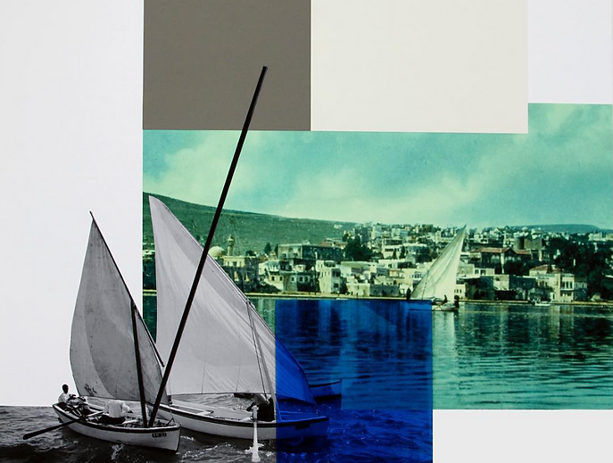 Detail: Hazem Harb, Tiberias #4, 2017, Archival C-Print, Photography Collage and Plexiglas on Fine Art Paper, 105 x 80 cm. (© Hazem Harb, Courtesy of Tabari Art Space)