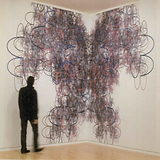 ascal Dombis, Antrsana 11, 2000, recreated 2008, site-specific installation, inkjet print on vin/l, approx. 12 x 17 ft. (365 x 5 18 cm), installation view, Mary and Leigh Block Museum of Art, Northwestern University. Collection of the artist © Pascal Dombis