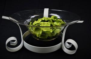 White Iron Decorative Bowl