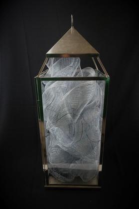Silver Glass Lantern